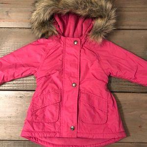 Old Navy baby girl pink hooded winter coat jacket